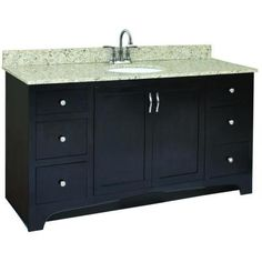 Design House Ventura 60 in. W x 21 in. D Unassembled Vanity Cabinet Only in Espresso-541433 - The Home Depot