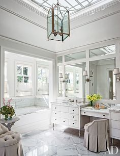 White Bathroom Renovating Ideas | Architectural Digest