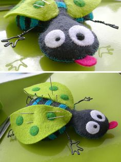 felt bug pincushion. might have to make this for layla's sewing basket. super cute!