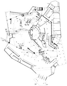 Image 16 of 18 from gallery of AD Classics: Berlin Philharmonic / Hans Scharoun. Architecture Board, Urban Architecture, Organic Architecture, Architecture Drawings, Contemporary Architecture, Hans Scharoun, Critical Regionalism, Plan Sketch, Detailed Drawings
