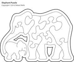 Scroll Saw Patterns to Print   elephant-outline.jpg 1,728×1,452 pixels