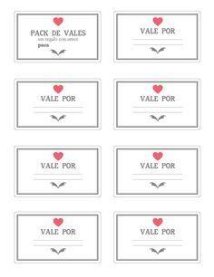 Vale por un beso, vales de amor, vales de san valentin, vales de amor intercambiables, imprimible de san valentin