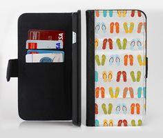The Vintage Flip-Flops lnk-Fuzed Leather Folding Wallet Case