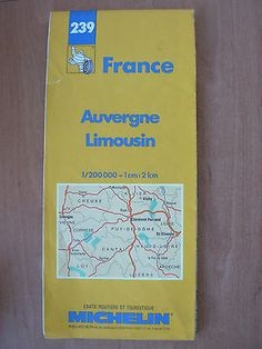 Auvergne and Limousin 522 by Michelin Maps and Guides Limousin