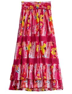 Justice Clothes for Girls Outlet | Girls Clothing | Skirts & Skorts | Floral Maxi ... | Justice clothes
