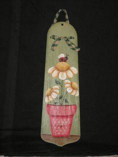 Flowers Ladybug Summer Fan Blade Handpainted by KathysKountry