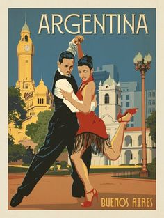 Buenos Aires_Anderson Design Group – World Travel – Argentina Vintage Travel Posters, Vintage Postcards, Art Deco Posters, Poster Prints, Vintage Advertisements, Vintage Ads, Vintage Medical, Tourism Poster, Photo Vintage