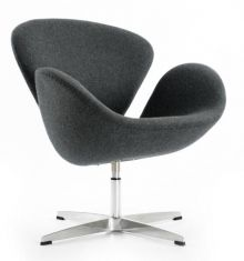 Swan Chair by Arne Jacobsen - Wool - Grey