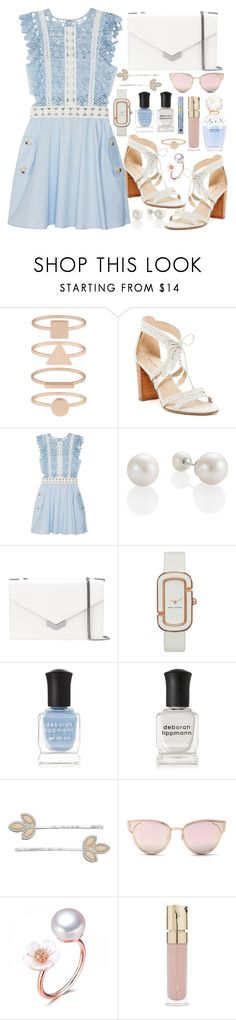 """Sweet"" by jess-r-d ❤ liked on Polyvore featuring Accessorize, Via Spiga, self-portrait, Jimmy Choo, Marc by Marc Jacobs, Deborah Lippmann, LC Lauren Conrad, LMNT, Marc Jacobs and Smith & Cult"
