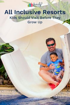 If you're looking for a memorable vacation that's easy to plan and immersive, with inventive programs the kids will love, consider staying at an all-inclusive resort. These are the all inclusive resorts your kids should experience before they grow up. Vacation Deals, Travel Deals, Budget Travel, All Inclusive Resorts, Free Travel, Adventure Travel, Growing Up, Budgeting, Places To Go