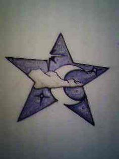 Star and Moon Tattoo design by darthbaio.deviantart.com on @deviantART