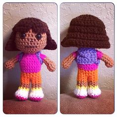 This is the pattern only for a Dora doll! I made the doll for my little one and she loved her! It's my own original pattern and is easy to follow! I included 14 photos in the pattern to help you see what mine looked like as I went. If you have any questions feel free to email me and I'll answer them to the best of my ability :) I also have a pattern for Dora's best friend, Boots the monkey. You can find it here: