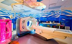 Texas Children's Hospital West Campus Murals Create Child-Friendly Spaces -- with help from artist Larry Crawford and Child Life Intervention Clinic Design, Healthcare Design, Children's Clinic, Child Life Specialist, Hospital Design, Treatment Rooms, Commercial Interior Design, Kids Health, Children Health