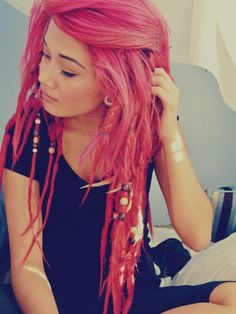 If my husband wouldn't have a heart attack, I would do this to my hair. Just not pink.