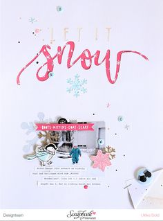 Layout *Let it snow* - SBW Badges, Crate Paper Snow & Cocoa, Felicity Jane Cutfile - von Ulrike Dold