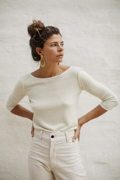 Ozma Silk Noil Ballet Top in Ivory Skandinavian Fashion, Mode Style, Style Me, Ballet Top, Ballet Style, Style Minimaliste, Looks Chic, Inspiration Mode, Mode Outfits