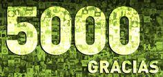 Queremos aprovechar el post de hoy para dar las gracias a todos y cada uno de nuestros más de 5.000 AMIGOS.  ¡Muchas gracias por acompañarnos día a día!