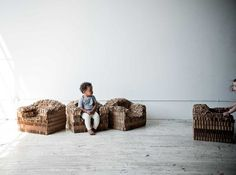 Rip + Tatter: cardboard chair for children by Pete Oyler