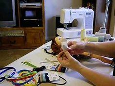 How to Make Dolls Shoes - V Sandals Pt. 1