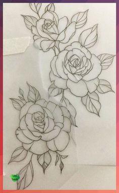 Stencils Tatuagem, Tattoo Stencils, Cute Hand Tattoos, Cute Girl Tattoos, Forearm Flower Tattoo, Forearm Sleeve Tattoos, Tattoo Thigh, Rose Tattoos, Flower Tattoos