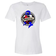 ARDS Advocate Support Women's Fashion T-Shirt - White | Cancer Shirts | Disease Apparel | Awareness Ribbon Colors