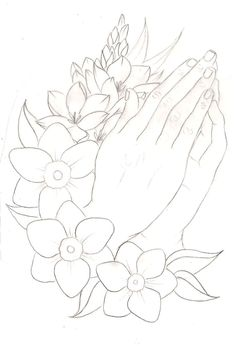 Wild Cub – Thunder Clatter (UNKNWN Remix) Praying Hands with Flowers Tattoo 2 by ~Metacharis on deviantART Hand Tattoos, Flower Tattoos, Arm Tattoo, Sleeve Tattoos, Tattoo Wolf, Tattoo Flash, Tree Coloring Page, Coloring Pages, Manga Florida