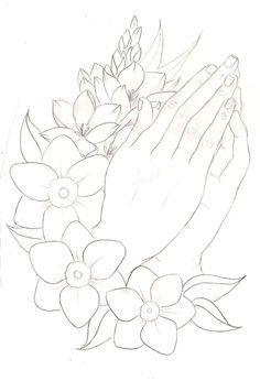 Wild Cub – Thunder Clatter (UNKNWN Remix) Praying Hands with Flowers Tattoo 2 by ~Metacharis on deviantART Hand Tattoos, Flower Tattoos, Arm Tattoo, Sleeve Tattoos, Tattoo Wolf, Tattoo Flash, Tree Coloring Page, Coloring Pages, Adult Coloring