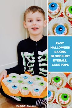 Easy Halloween Baking Bloodshot Eyeball Cake Pops Halloween Baking, Easy Halloween, Halloween Treats, Halloween Party, Halloween Outfits, Halloween Costumes For Kids, Halloween Traditions, Green Food Coloring, Cooking On A Budget