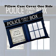 """Pillow Case - NEW Hot Pillowcase DR WHO Tardis Police Public Call Box Blue Bedding Pillow Case size 30"""" x 20""""-Ideal Gift on Etsy, $14.99"""
