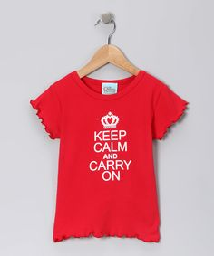 Keep Calm and Carry on Ruffle Tee by Sweet Petunia