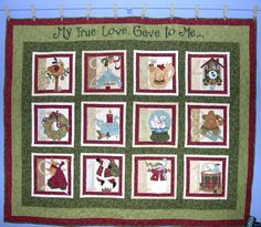 12 Days of Christmas, My True Love quilt