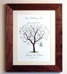 The Wedding Fingerprint Tree is a unique alternative to the wedding guest book,  where the leaves of the tree are made from the fingerprints of your guests. What usually happens with a regular guestbook is that it gets put away in a draw or up in the attic (like ours) and gets looked at every 15 years or so when you get around to a tidy up, But a stylish personalised fingerprint tree, framed to suit the decor of your home it can be a keepsake you, your friends & your family can admire every…