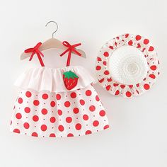 Red Boho Sleeveless Cotton Polka Dot Fruit&Vegetable Cami Non-stretch Summer Toddler Girl Dresses, size features are:Bust: ,Length: ,Sleeve Length:Sleeveless Easy Baby Sewing Patterns, Baby Girl Patterns, Baby Clothes Patterns, Girl Dress Patterns, Skirt Patterns, Coat Patterns, Blouse Patterns, Toddler Girl Dresses, Girls Dresses