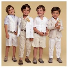 These outfits are too adorable! Could be the most handsome little page boys ever!