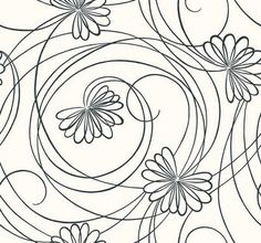 Modern Script Floral - BL0340 from Inspired by Color Black & White book