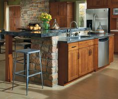 The Clean, Classic Lines Of The Harrison Door On These Shaker Style Kitchen  Cabinets Underscore
