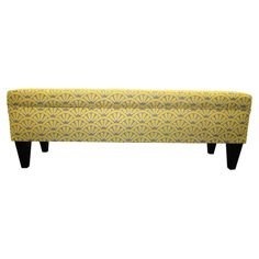 Add a pop of pattern to your home decor with this stylish storage bench.Product: Storage benchConstruction Material: W...
