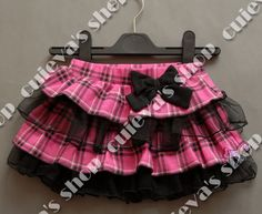 Retail Lace Skirt Baby Skirt TUTU NURSERY RHYME grid pleater layered bow accessory mini skirt, free shipping(only 6-12M one size US $14.59
