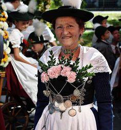 Miesbacher Gebirgstracht, Oktoberfesteinzug, München, September 2004 #Miesbach