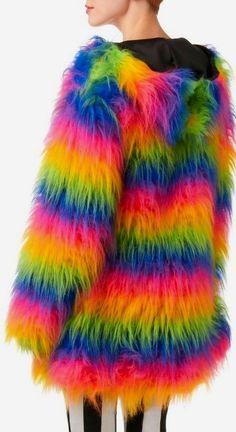Rainbow Neon Coat
