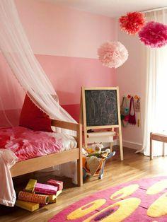 kinderzimmer streichen - 20 bunte dekoideen | wände | pinterest ... - Schlafzimmer Pink Braun