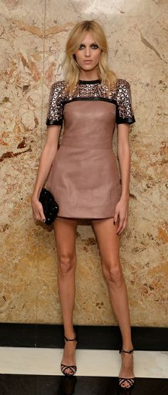 The lovely Anja Rubik...