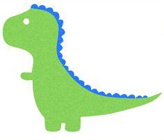 cartoon dinosaur silhouettes would look cute on a onesie.