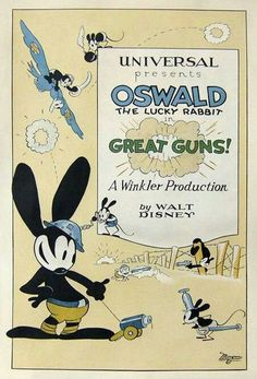 OSWALD THE LUCKY RABBIT MOVIE POSTER Rare Hot Vintage PW9 PRINT IMAGE PHOTO