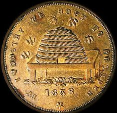 Coin Hope To Prosper....1838   http://beeskepcottage.blogspot.com/2011/11/by-industry-we-hope-to-prosper1838.html