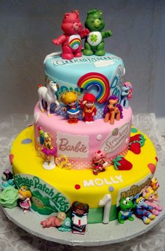 Beautiful Photo of Cartoon Character Birthday Cake Ideas . Cartoon Character Birthday Cake Ideas Themed Character Cakes Yeah This Is All Kinds Of Awesome I Pretty Cakes, Cute Cakes, Beautiful Cakes, Amazing Cakes, Birthday Cake 30, 80s Birthday Parties, 40th Birthday Themes, Cartoon Birthday Cake, Party Cartoon