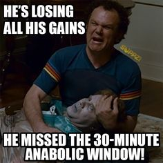 He's losing all his gains! He missed the 30 minute anabolic window! - He's lo. - He's losing all his gains! He missed the 30 minute anabolic window! – He's losing all his ga - Fitness Studio Motivation, Gym Motivation, Workout Memes, Gym Memes, Crossfit Memes, Funny Memes, Post Workout, Gym Frases, Fitness Memes