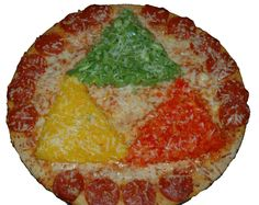 Triforce pizza for Zelda themed party