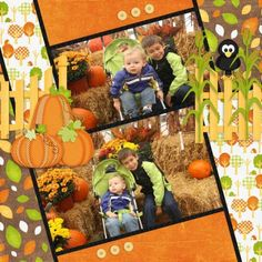 """Sweet """"At The Patch"""" Fall Scrapping Page..."""