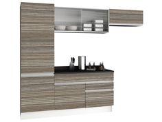 Cozinha Compacta Madesa Glamy com Balcão 5 Portas 2 Gavetas 100% MDF - Cozinhas Compactas - Magazine Luiza